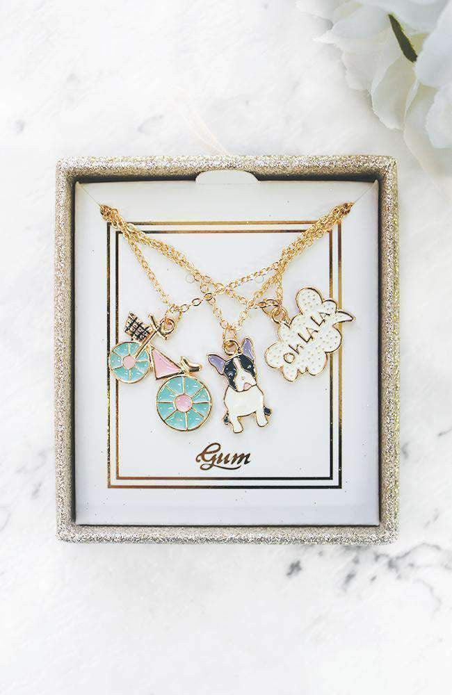 cute necklace gift set