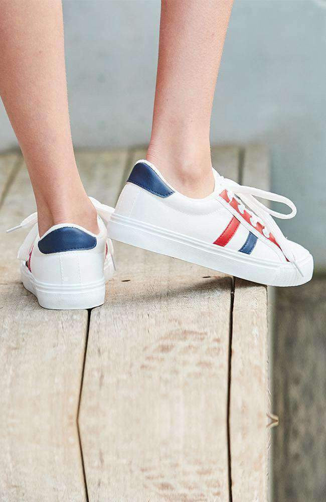 sports stripes canvas sneaker