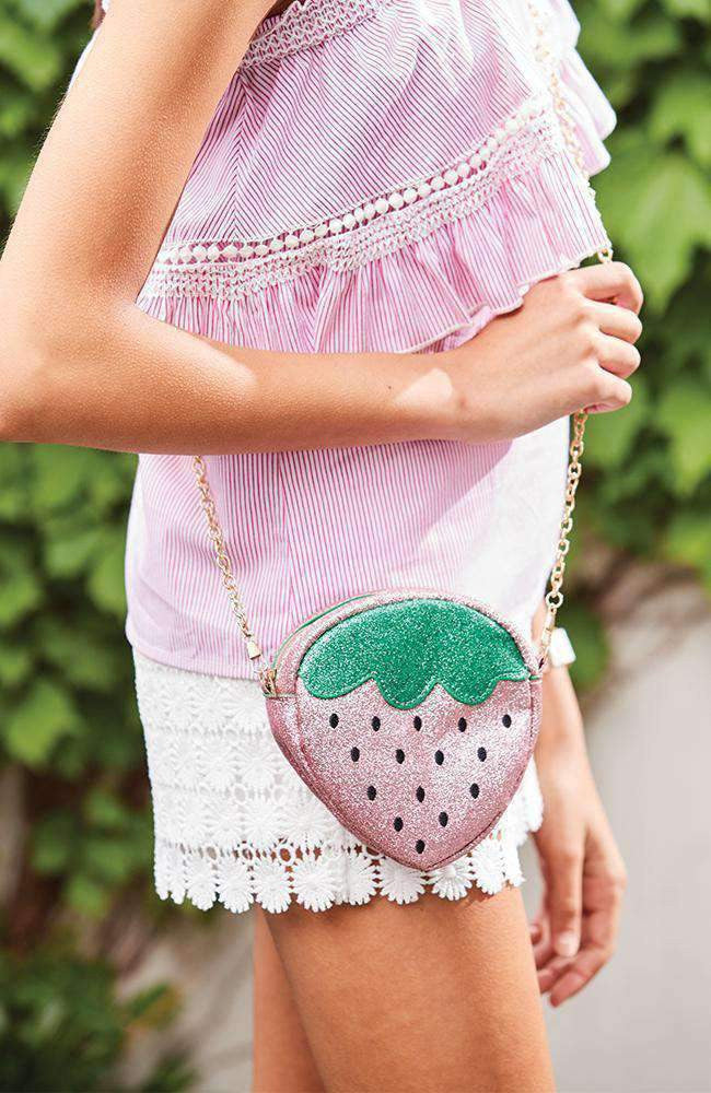glitter strawberry bag