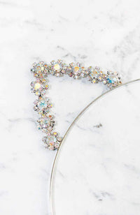 diamond flowers kitty headband