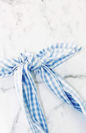 gingham headwrap