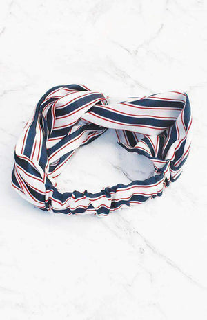 sporty stripes headwrap