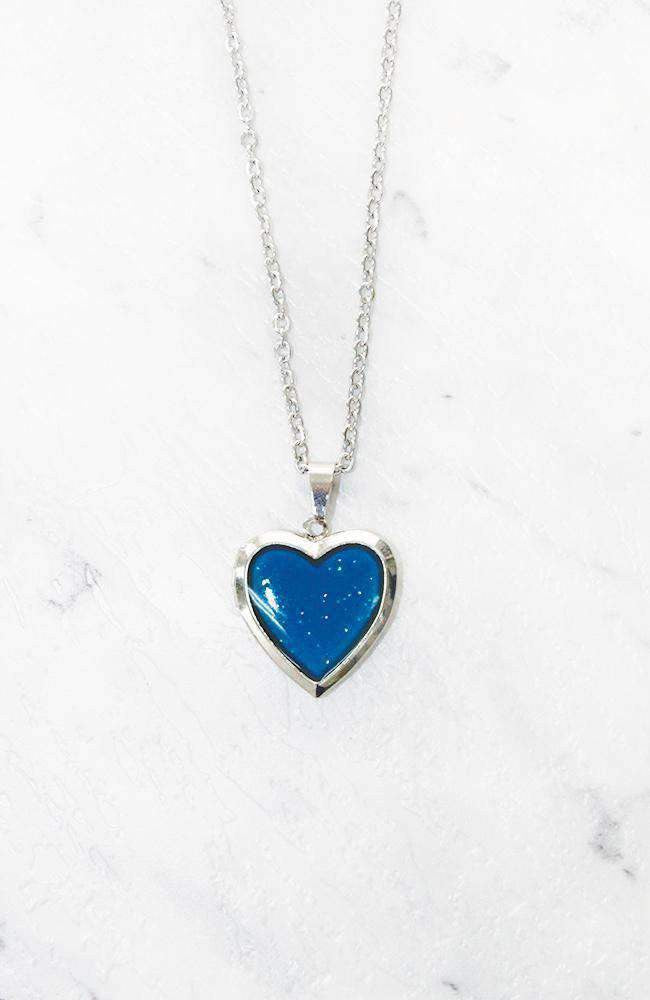 heart mood necklace