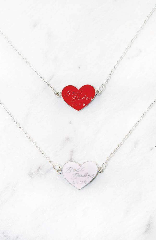 best friends club necklace set