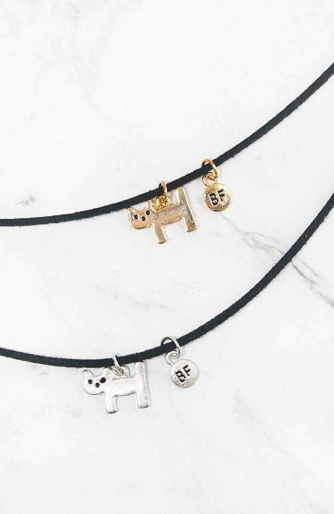 BFF kitty choker set