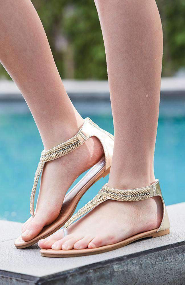 goddess gold beaded vegan boho party sandals
