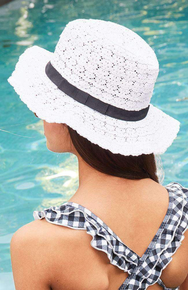 lace bow hat