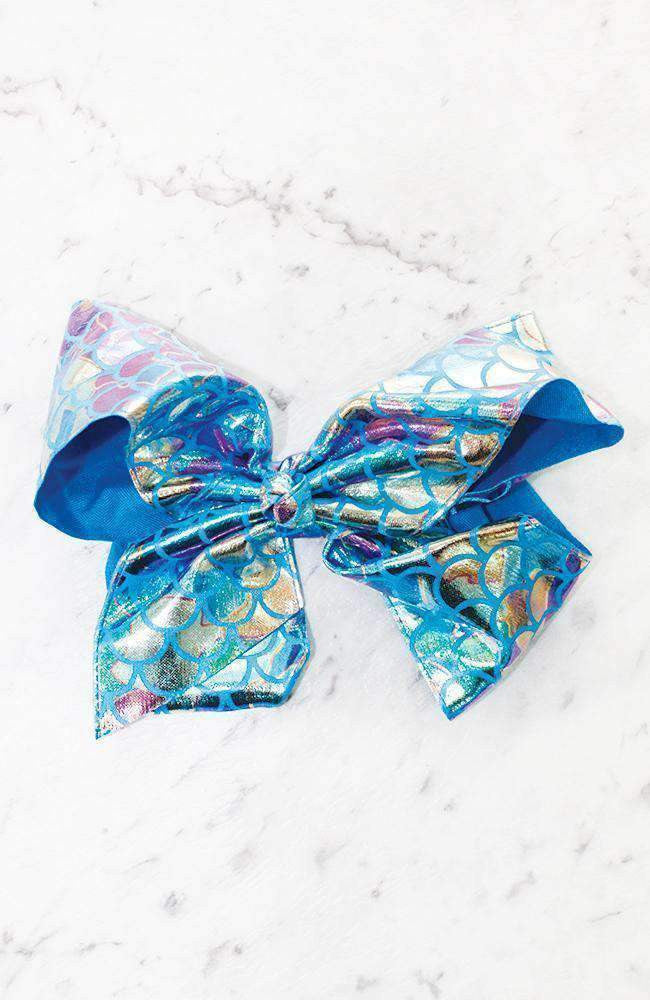 metallic rainbow bow hairclip