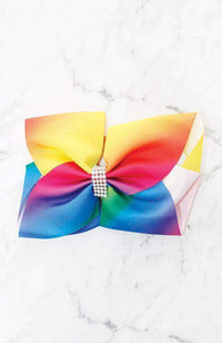rainbow bow hairclip