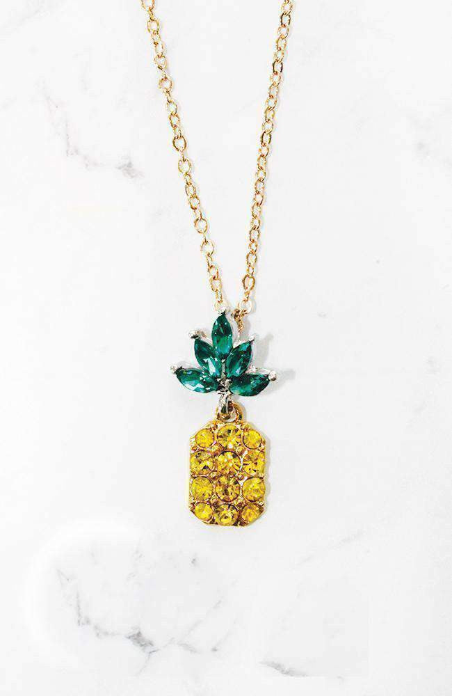 pineapple party necklace