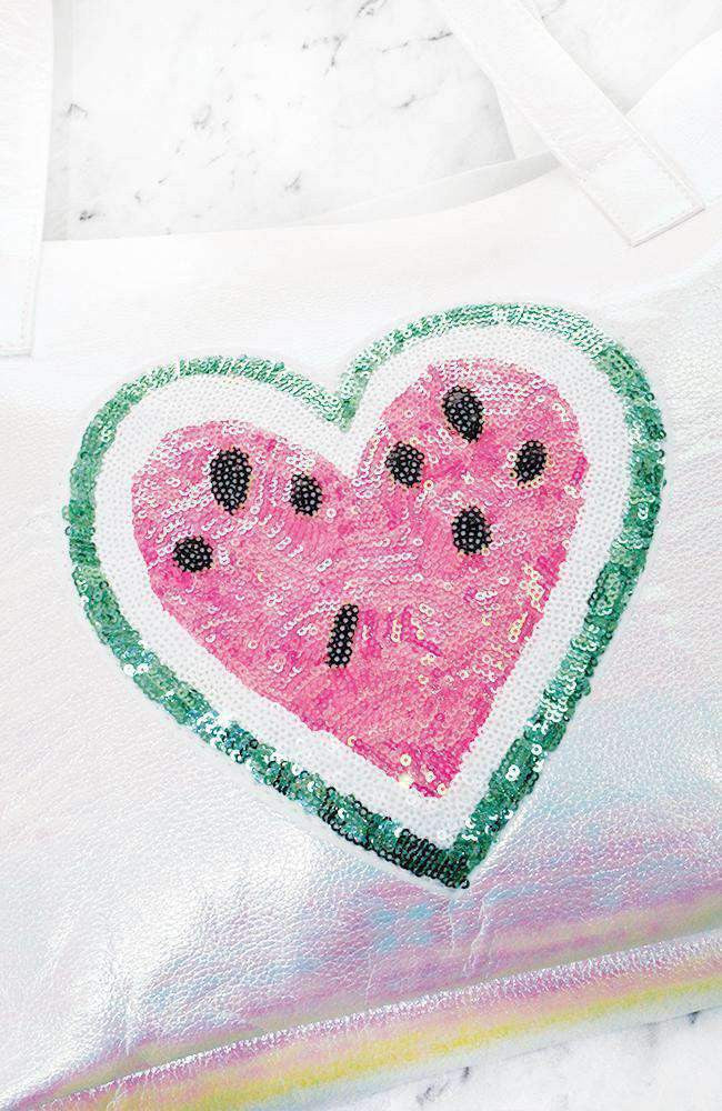 watermelon love tote bag