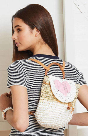 heart straw backpack