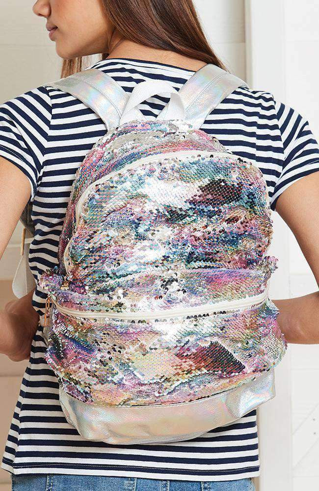 pastel sequins backpack