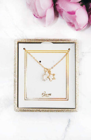 shining star initial necklace
