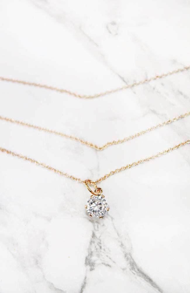 crystal choker chain necklace