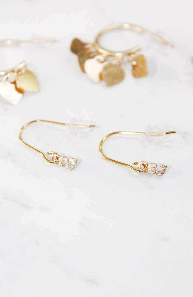 initial sleepers earring set