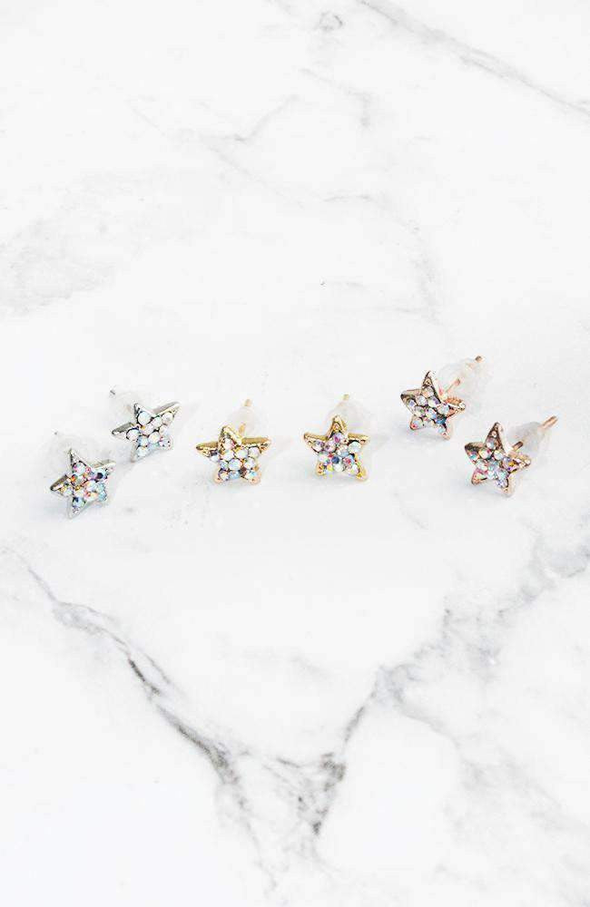 glitter stars earrings