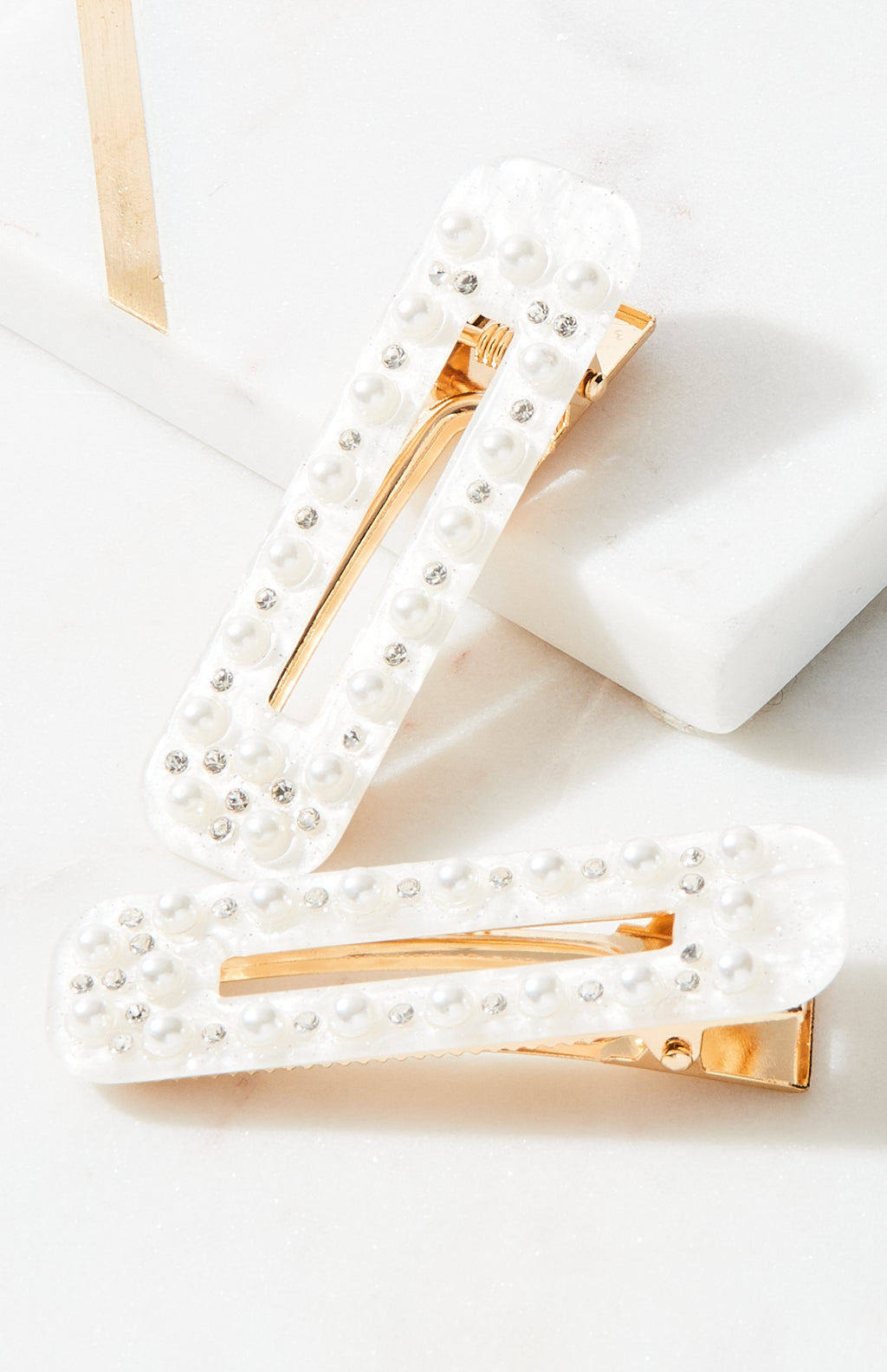 pearl vintage slide hairclips