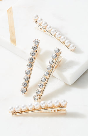 diamonds & pearls hairclip collection