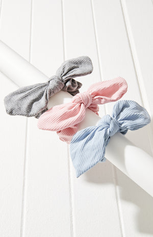 jersey bow scrunchies set