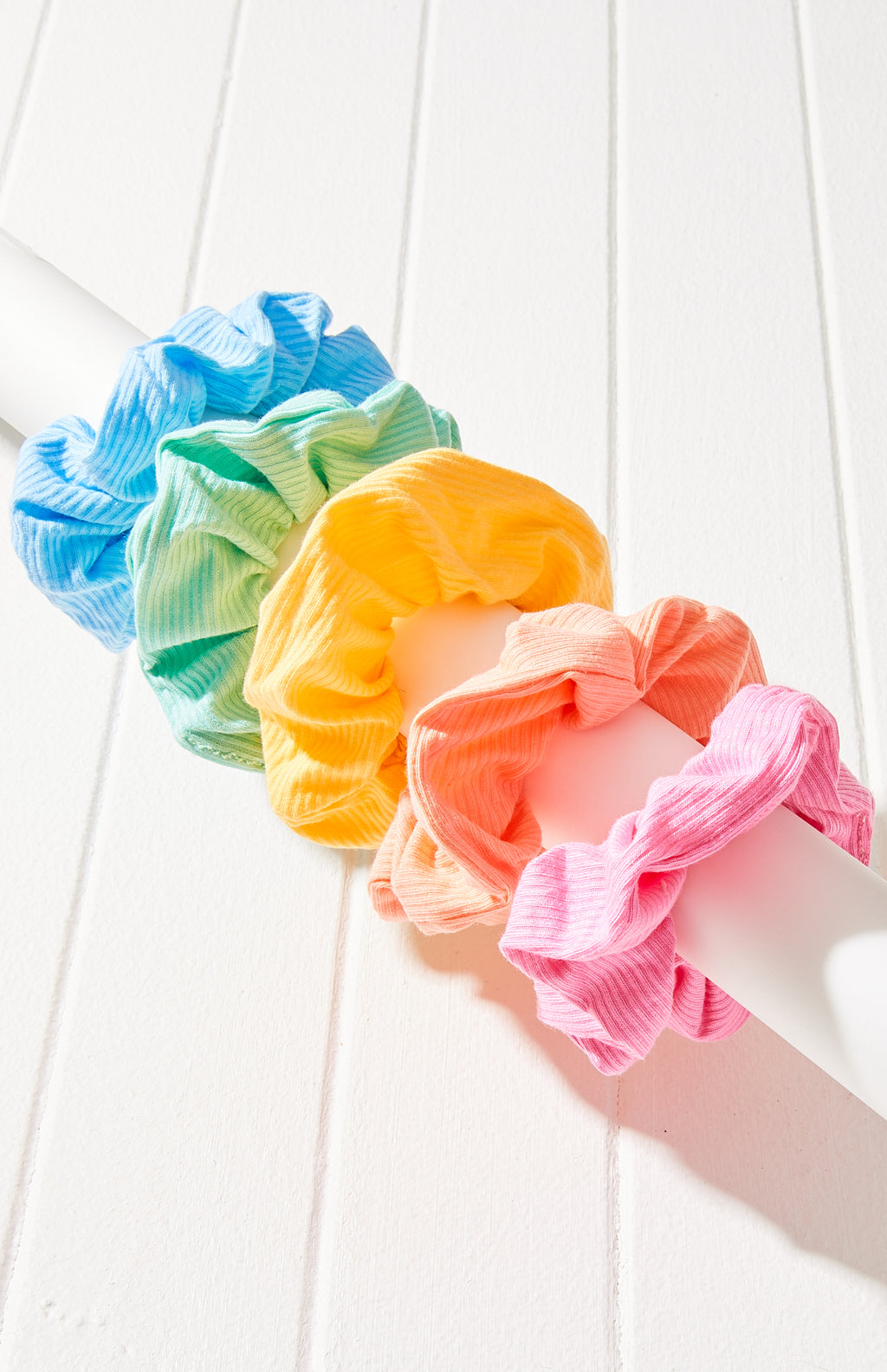 Jersey Super Soft Essential Scrunchie Hair Tie 5 Pack