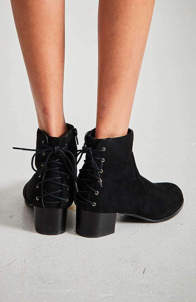 afc001d5a9e6 oxford faux suede lace up ankle boot