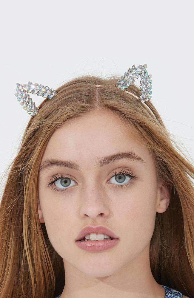 mod diamond kitty ears headband