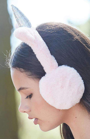 unicorn pastel faux fur earmuffs