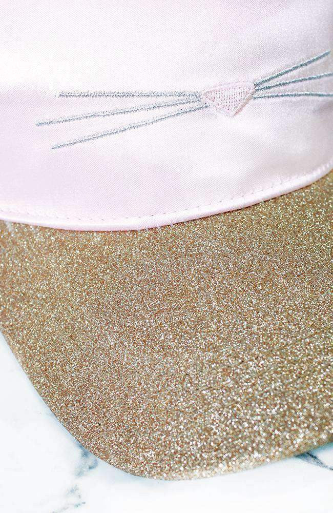 glitter kitty silky cat ear cap