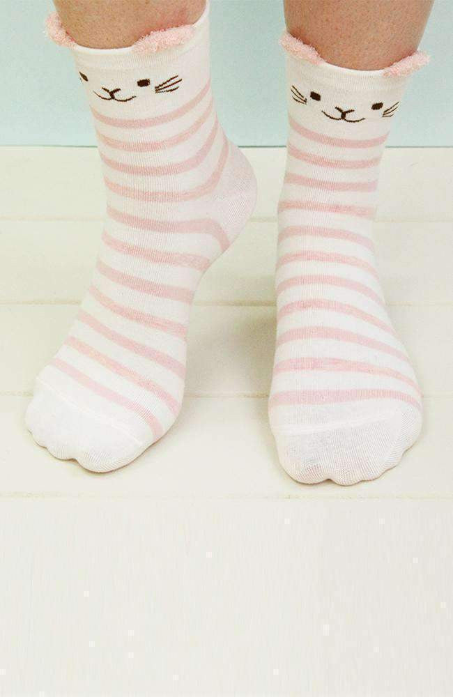 cat stripe socks
