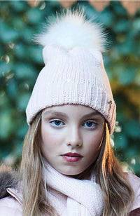 shimmer hearts beanie