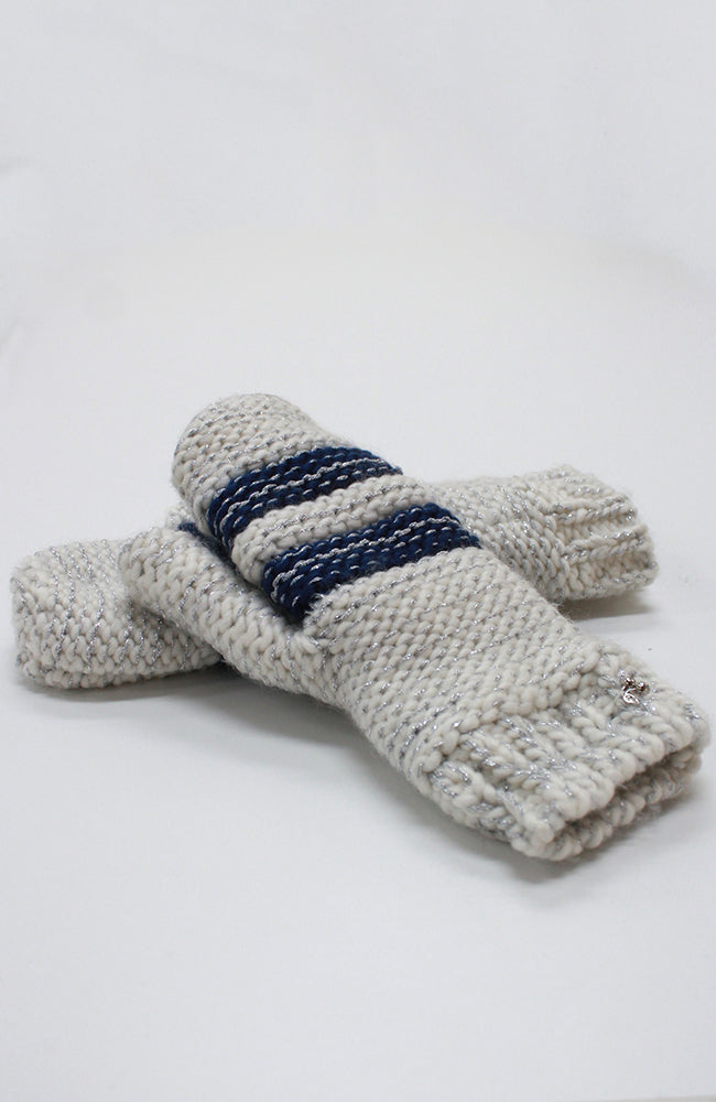 sporty stripes mittens