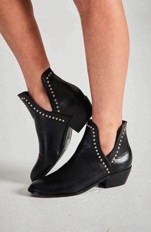 sacramento studs black ankle boot