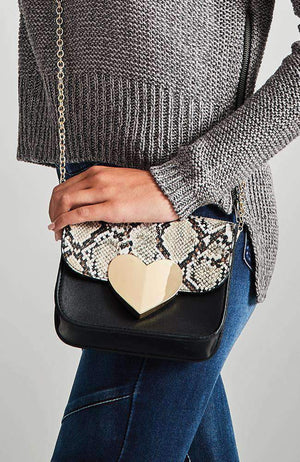 gold heart duo bag