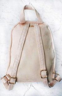 suede hearts backpack