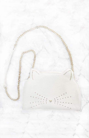 foil kitten crossbody bag