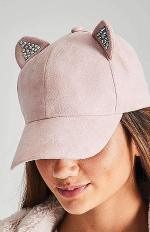 suede kitty cap