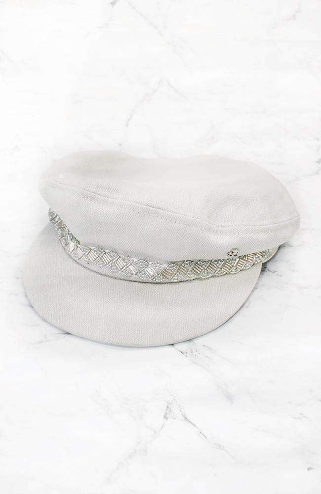 london beaded grey cap