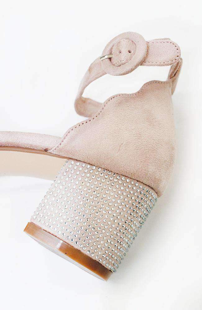crystal scalloped party shoe