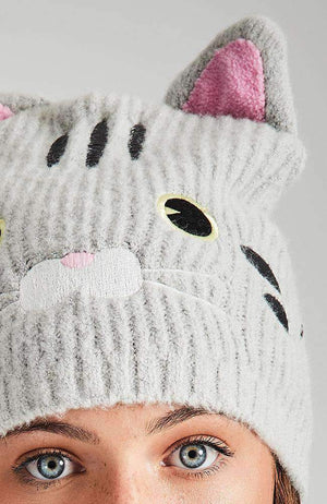 kitty face beanie