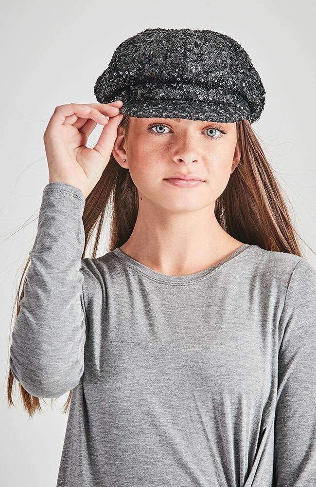 so soho slouchy glitter sequin cap