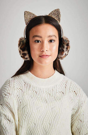 kitty sparkle earmuffs