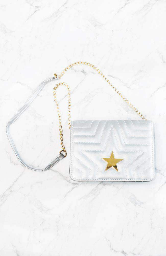 super star quilted gold party bag