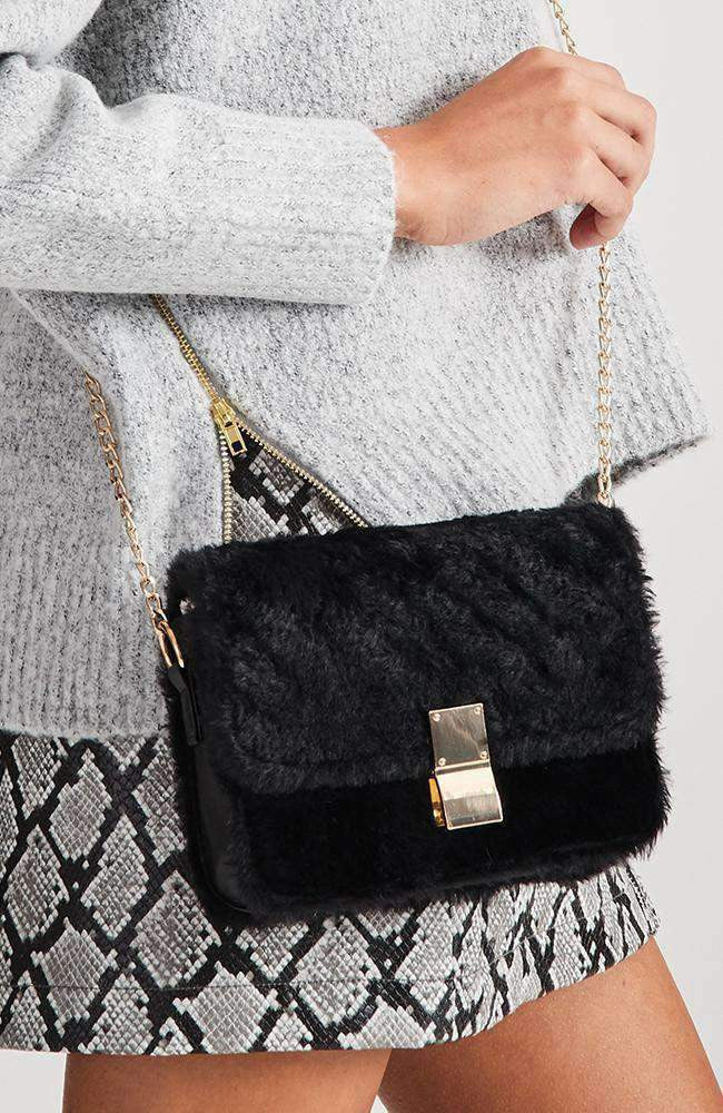 heidi fluffy faux fur bag