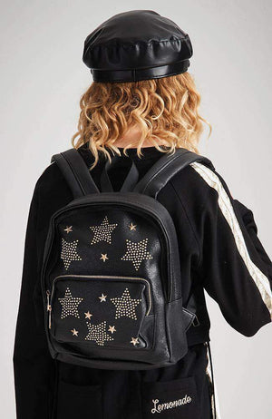 star studs metallic backpack