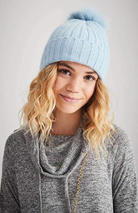 blue moon pastel ribbed beanie