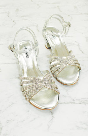 crystal party heels