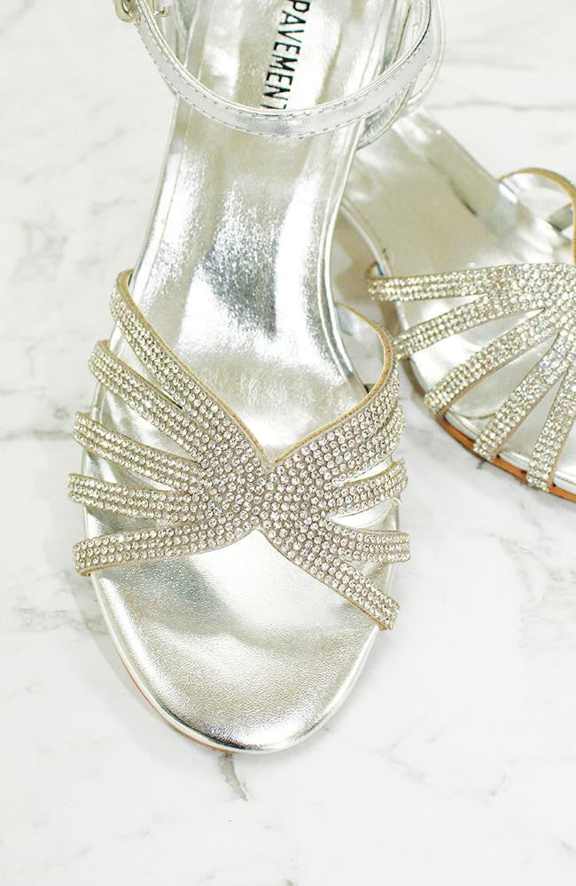 crystal diamond rhinestone metallic party heeled sandals