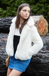 jessica cream faux mongolian fur jacket