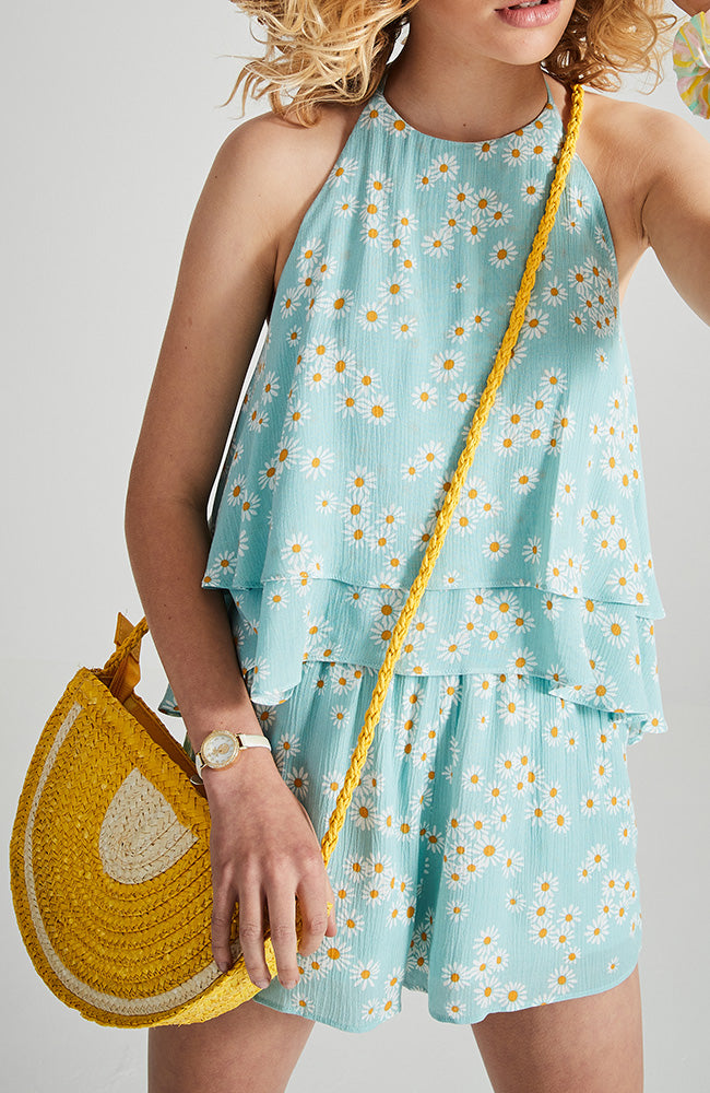 lemon straw bag